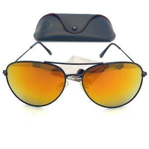 CB Sports Classic Black Frame Aviator Sunglasses